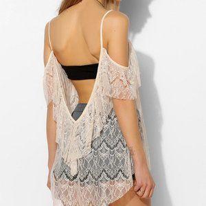 Bella Lace Cold Shoulder Top